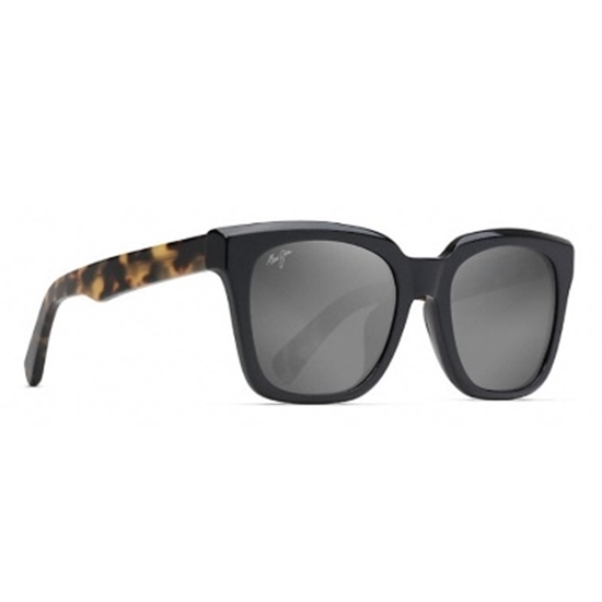 Picture of Maui Jim Heliconia Polarized - Gloss Black Tortoise/Grey
