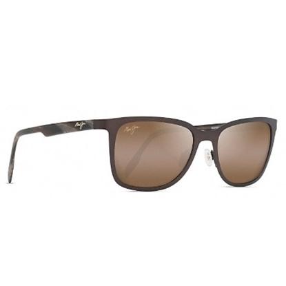 Picture of Maui Jim Naupaka Polarized Sunglasses - Satin Chocolate/Bronze