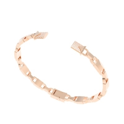 Picture of Michael Kors Mercer 14k Rose Gold Plated Hinged Open Cuff