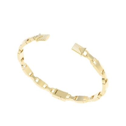 Picture of Michael Kors Mercer 14k Gold Plated Hinged Open Cuff