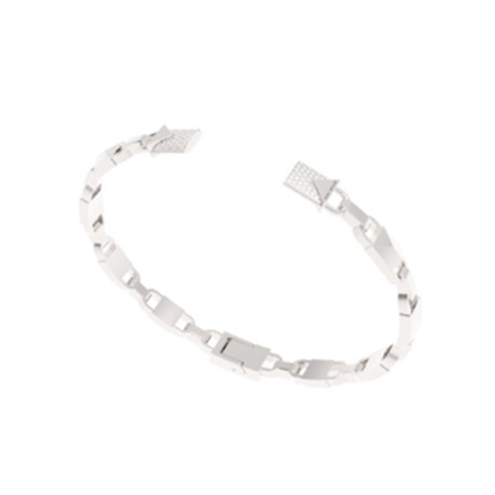 Picture of Michael Kors Mercer Sterling Silver Hinged Open Cuff