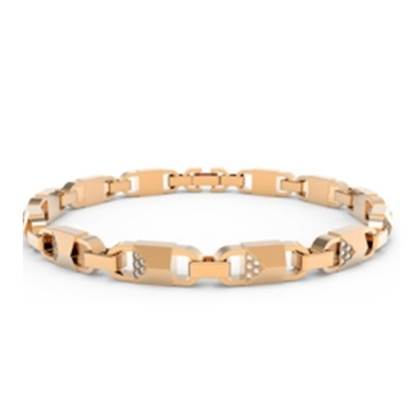 Picture of Michael Kors Mercer Link 14k Rose Gold Plated Bracelet
