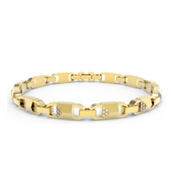 Picture of Michael Kors Mercer Link 14k Gold Plated Bracelet
