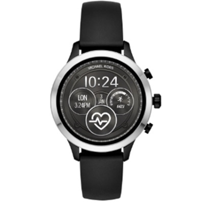 Picture of Michael Kors Access Runway Black Silicone Smartwatch