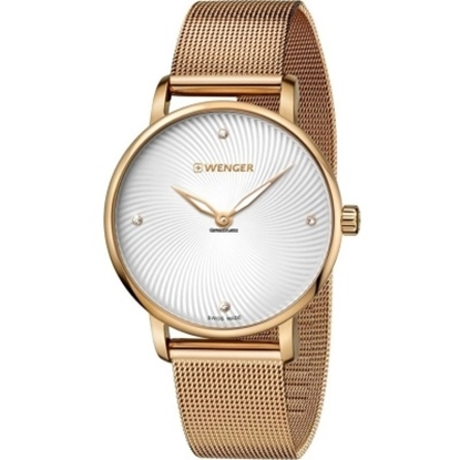 Picture of Wenger Urban Classic Small Rose Gold-Tone Mesh Band