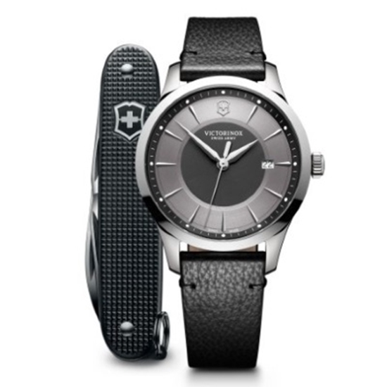 Picture of Victorinox Alliance Leather Strap Watch with Pocket Knife