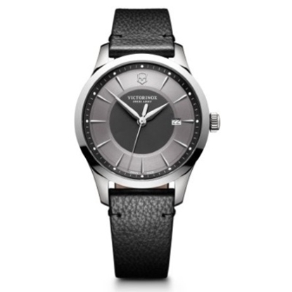 Picture of Victorinox Alliance Watch with Grey Dial & Black Leather Strap