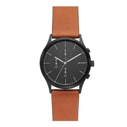 Picture of Skagen Men's Jorn Watch w/ Black Dial & Luggage Leather Strap