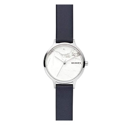 Picture of Skagen Ladies' Anita Leather Strap Watch with Marble Dial