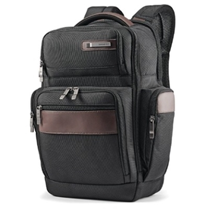 Picture of Samsonite Kombi 4 Square Backpack - Black/Brown