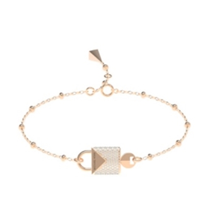 Picture of Michael Kors Mercer 14k Rose Gold Plated Padlock Bracelet