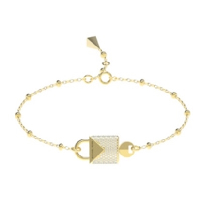 Picture of Michael Kors Mercer 14k Gold Plated Padlock Bracelet