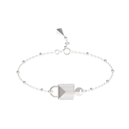 Picture of Michael Kors Mercer Sterling Silver Padlock Bracelet