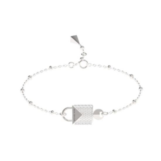 Picture of Michael Kors Mercer Sterling Silver Padlock Bracelet