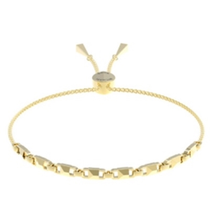 Picture of Michael Kors Mercer Link 14k Gold Plated Slider Bracelet