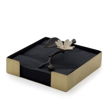 Picture of Michael Aram Dogwood Cocktail Napkin Box