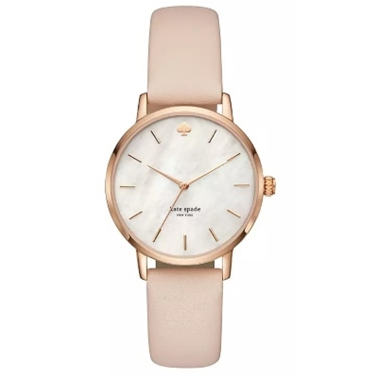 Picture of Kate Spade Metro Rose Gold-Tone Vachetta Leather Watch