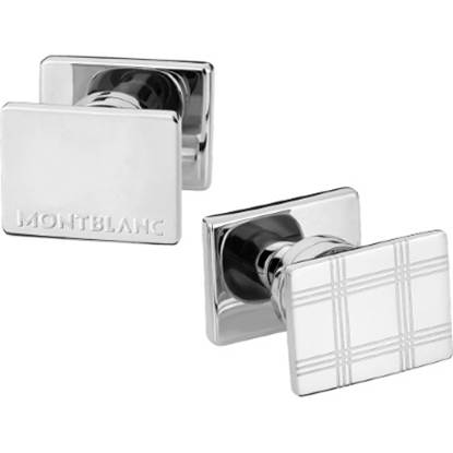 Picture of Montblanc Essential Sartorial Cufflinks - Rectangular/Steel