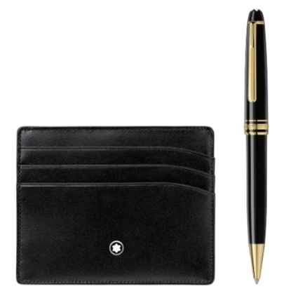 Picture of Montblanc Meisterstuck Ballpoint & Credit Card Holder Set