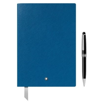 Picture of Montblanc Meisterstuck Ballpoint & Electric Blue Notebook Set