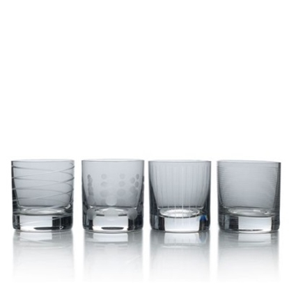 Picture of Mikasa Cheers Smoke Double Old Fashioned Glasses - Set of 4