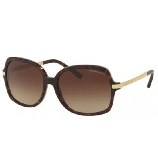 Picture of Michael Kors Adrianna II Square Sunglasses - Tortoise/Brown