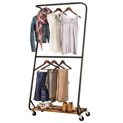 Picture of Honey Can Do® Rustic Z-Frame Garment Rack