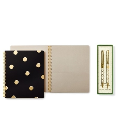 Picture of Kate Spade Large Spiral Notebook w/ Pen & Pencil Set