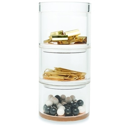 Picture of Kate Spade Acrylic Stackable Desk Set - Gold Strike