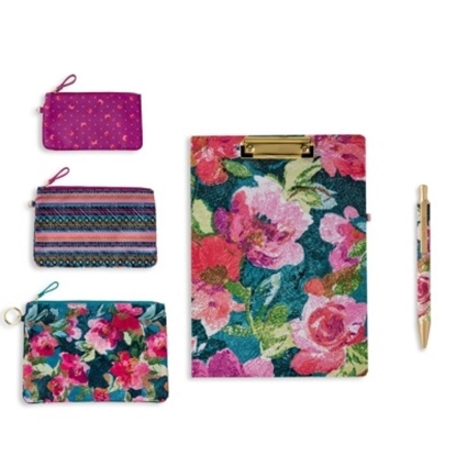 Picture of Vera Bradley Pen, Clipboard & Pencil Pouches - Superbloom
