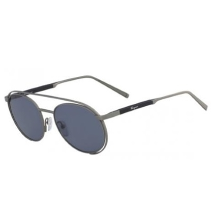 Picture of Salvatore Ferragamo Classic Logo Sunglasses - Matte Gunmetal
