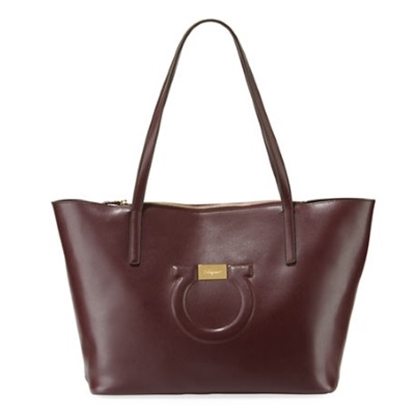 Picture of Salvatore Ferragamo City Tote - Wine