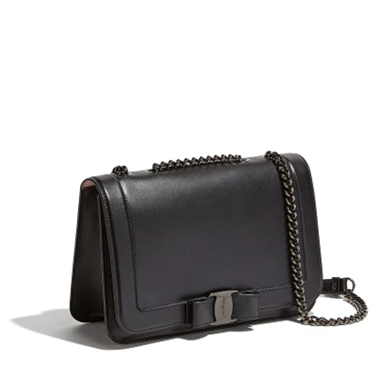 Picture of Salvatore Ferragamo Vara Rainbow Crossbody - Black/Black
