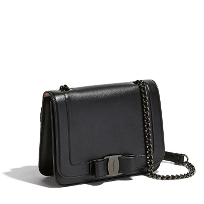 d16a3df13 Picture of Salvatore Ferragamo Vara Rainbow Bag- Tonal Black/Black
