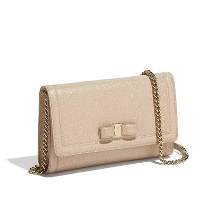79b969ea1 Picture of Salvatore Ferragamo Miss Vara Wallet Mini Bag - Macadamia