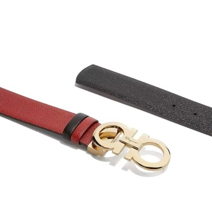 Picture of Salvatore Ferragamo Ladies' Score Belt - Lipstick