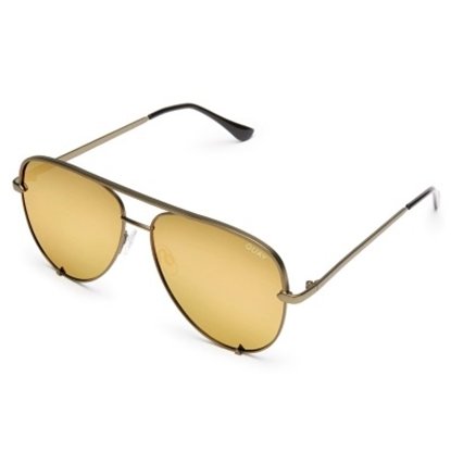 Picture of Quay High Key Sunglasses - Original Green/Gold