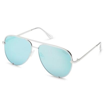 Picture of Quay High Key Sunglasses - Original Silver/Blue