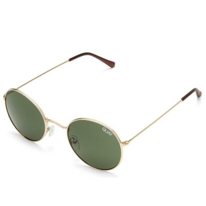 Picture of Quay Mod Star Sunglasses - Gold/Green