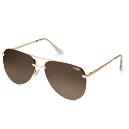 Picture of Quay The Playa Sunglasses - Gold/Brown