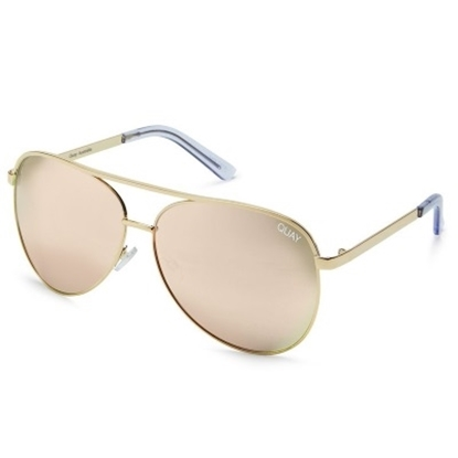 Picture of Quay Vivienne Sunglasses - Gold/Rose