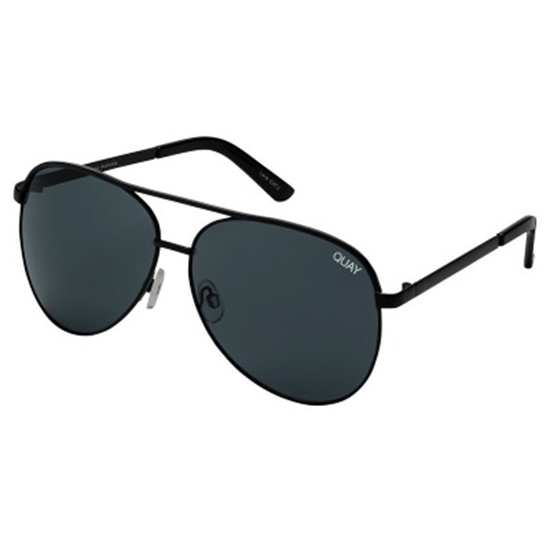 Picture of Quay Vivienne Sunglasses -  Black/Smoke