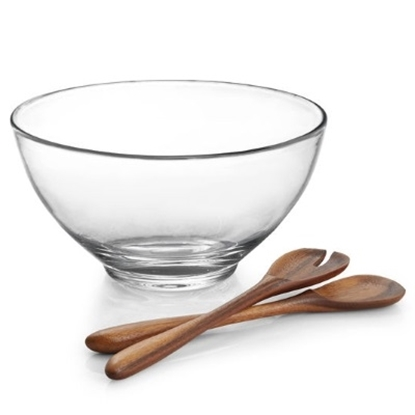Picture of Nambe Moderne Salad Bowl with Servers