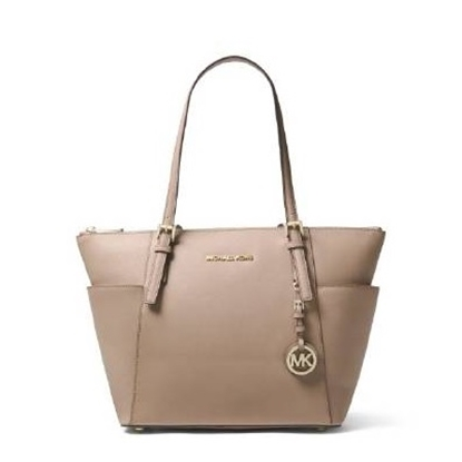 Picture of Michael Kors Jet Set E/W Top Zip Tote - Truffle