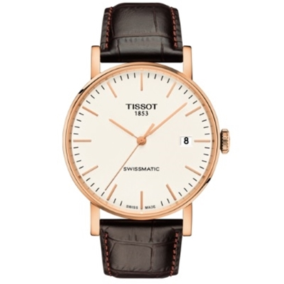 Picture of Tissot Everytime Swissmatic White Dial/Brown Leather Watch