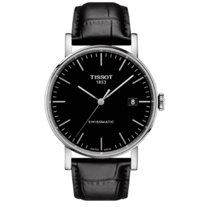 Picture of Tissot Everytime Swissmatic Black Leather Watch