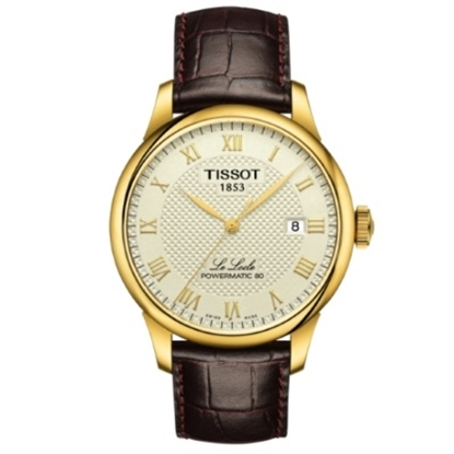 Picture of Tissot Le Locle Powermatic 80 - Brown Leather/Gold Dial