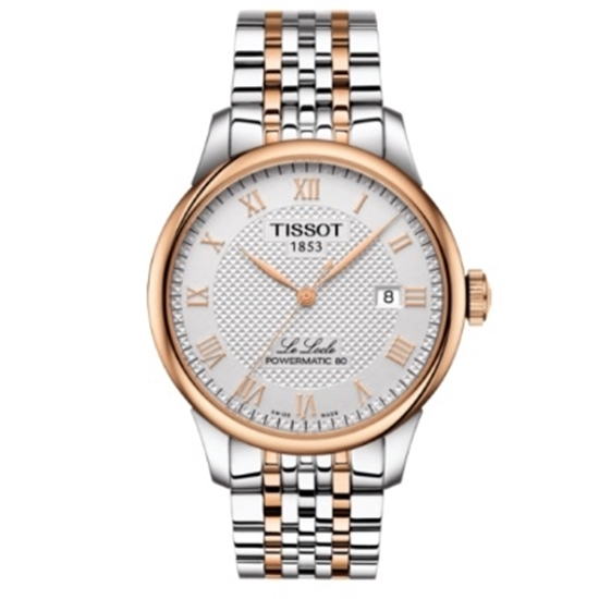 f2e9cc93b Picture of Tissot Le Locle Powermatic 80 Two-Tone Stainless Steel Watch