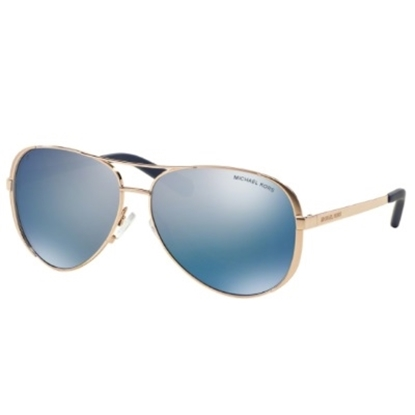 Picture of Michael Kors Chelsea Sunglasses - Rose Gold/Blue Polarized