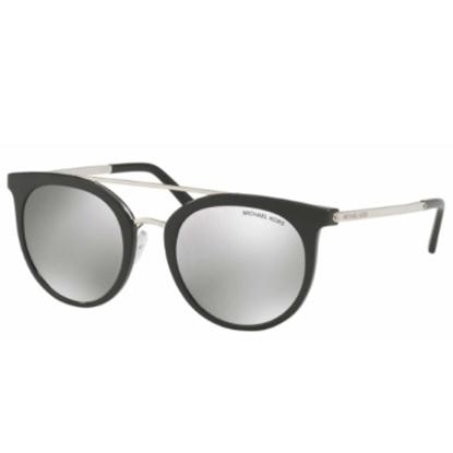 Picture of Michael Kors Ila Sunglasses - Silver/Black Frame/Silver Lens